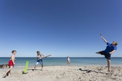 Aussie Cricket Catch royalty-vrije stock afbeelding