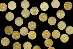 Aussie Dollars on Black Royalty Free Stock Images