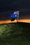 Aussie flag with poppies 2 Royalty Free Stock Photography