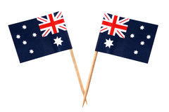 Aussie Flags Royalty Free Stock Photo