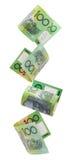 Aussie Hundreds Falling stock photos
