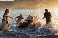 Aussie kipiel ratowników trenować obrazy stock
