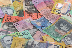 Aussie Money Background Stock Photos