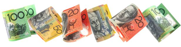 Aussie Money Border Stock Photography