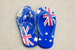 Aussie Thongs stock photography