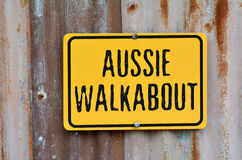 Aussie walkabout sign Royalty Free Stock Photo