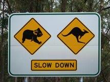 Aussie Warning Foto de archivo libre de regalías