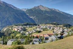 Aussois -萨瓦省-法国的村庄 免版税库存图片