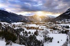 Aussois-Dorf Frankreich stockfotografie