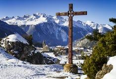 Aussois village France Stock Image