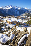 Aussois village in winter Stock Photos