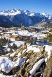 Aussois village in winter Stock Photos
