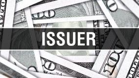 Aussteller-Nahaufnahme-Konzept Amerikanische Dollar des Bargeld-, Wiedergabe 3D Aussteller an der Dollar-Banknote Finanz-USA-Geld vektor abbildung