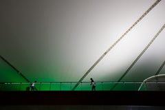 Ausstellung 2010 Shanghai-AUSSTELLUNG Mittellinie - weißer Regenschirm Stockbilder