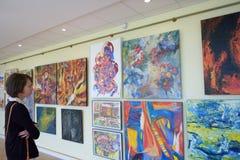 Ausstellung der moderner Kunst Stockbild