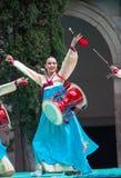 Ausstellung des koreanischen Tanzes Lizenzfreies Stockfoto