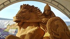 Ausstellung des riesigen Sandes erscheint in Sochi-Park, Russland Stockbild