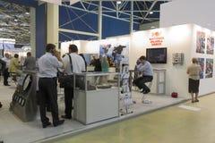 Ausstellung des Schmieröls und des Gases Stockfoto