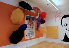 Ausstellung des Tanzens groß, Gene Kelly, Nationalmuseum des Tanzes und des Hall of Fame, Saratoga Springs, New York, 2015 lizenzfreies stockfoto