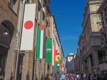 Ausstellung Mailand 2015 Flaggen Stockfoto