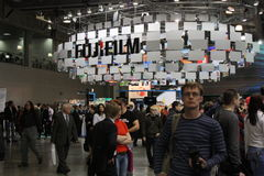 Ausstellung Photoforum-Ausstellung 2010 in Moskau Stockfotografie