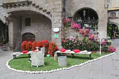 Ausstellung San Pellegrino in Fiore in Viterbo - Italien Stockbild