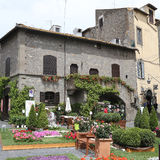 Ausstellung San Pellegrino in Fiore in Viterbo - Italien Stockfotos
