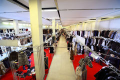 Ausstellung-Verkauf der Waren vom Pelz stockfoto