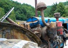 Ausstellung von alten Traktoren Stockfotos