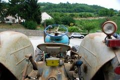 Ausstellung von alten Traktoren Lizenzfreies Stockbild