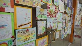 Ausstellung von Kindern stock video footage