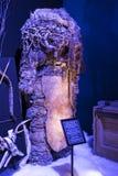 Ausstellung von Kostümen und von Stützen vom Film ` The Game von Throne ` in den Voraussetzungen des Seemuseums von Barcelona Lizenzfreies Stockbild