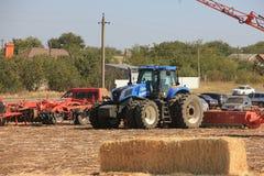 Ausstellung von landwirtschaftlichen Maschinen, von Mähdreschern und von Traktoren Großbritannien Lizenzfreies Stockbild