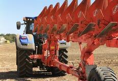Ausstellung von landwirtschaftlichen Maschinen, von Mähdreschern und von Traktoren Großbritannien Lizenzfreie Stockfotos
