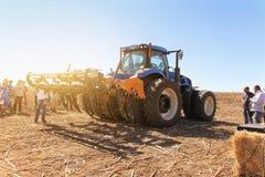 Ausstellung von landwirtschaftlichen Maschinen, von Mähdreschern und von Traktoren Großbritannien Stockfotos