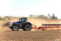 Ausstellung von landwirtschaftlichen Maschinen, von Mähdreschern und von Traktoren Großbritannien Lizenzfreies Stockfoto