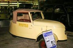 Ausstellung von Peugeot-Autos an Peugeot-Museum in Sochaux Frankreich stockbilder