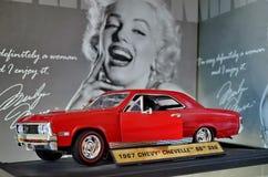 Ausstellung von Retro- Autos Auto 'Chevrolet Chevy Chevelle SS396 ', 1967, 220 HP Das Auto wurde mit Coupékörpern hergestellt stockbild