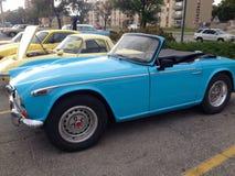 Ausstellung von Retro- und alten Autos Lizenzfreies Stockbild
