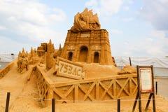 Ausstellung von Sandzahlen stockfotos