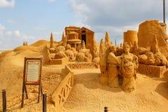 Ausstellung von Sandzahlen lizenzfreie stockbilder