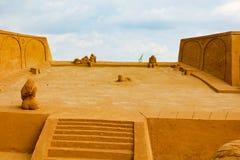 Ausstellung von Sandzahlen stockfotografie