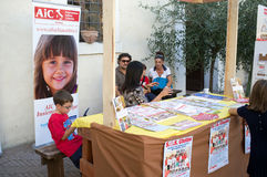 Ausstellung von Teigwaren in Italien Lizenzfreie Stockbilder