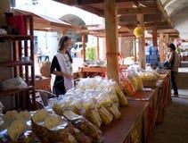Ausstellung von Teigwaren in Italien Lizenzfreies Stockfoto
