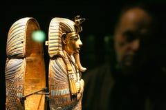 Ausstellung von Tutankhamun Stockbilder