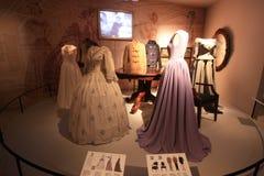 Ausstellung von Weinlesekleidern Stockfoto