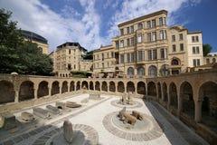 Ausstellungen des Freiluftmuseums in der alten Stadt von Icheri Sheher stockfoto