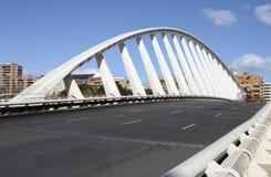 Ausstellungs-Brücke über dem Turia in Valencia, Spanien Lizenzfreies Stockfoto