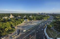 Ausstellungs-Mitte in Kiew, vdnh, sssr, Ausstellungspavillon, Kiew, Monument Lizenzfreies Stockfoto