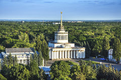 Ausstellungs-Mitte in Kiew, vdnh, sssr, Ausstellungspavillon, Kiew, Monument Stockfoto